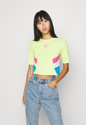 RETRO CROP  - Print T-shirt - sharp green