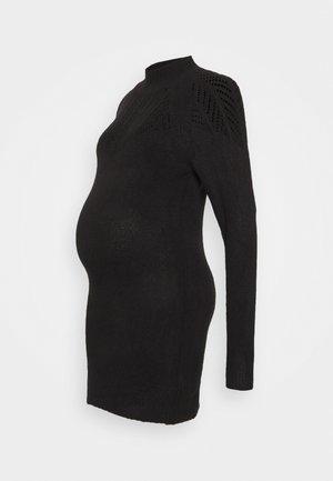 PONTELLE YOKE TUNIC DRESS - Jumper dress - black