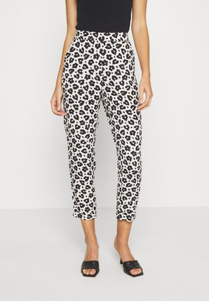 KATHY TROUSER - Pantalones - cream white/black