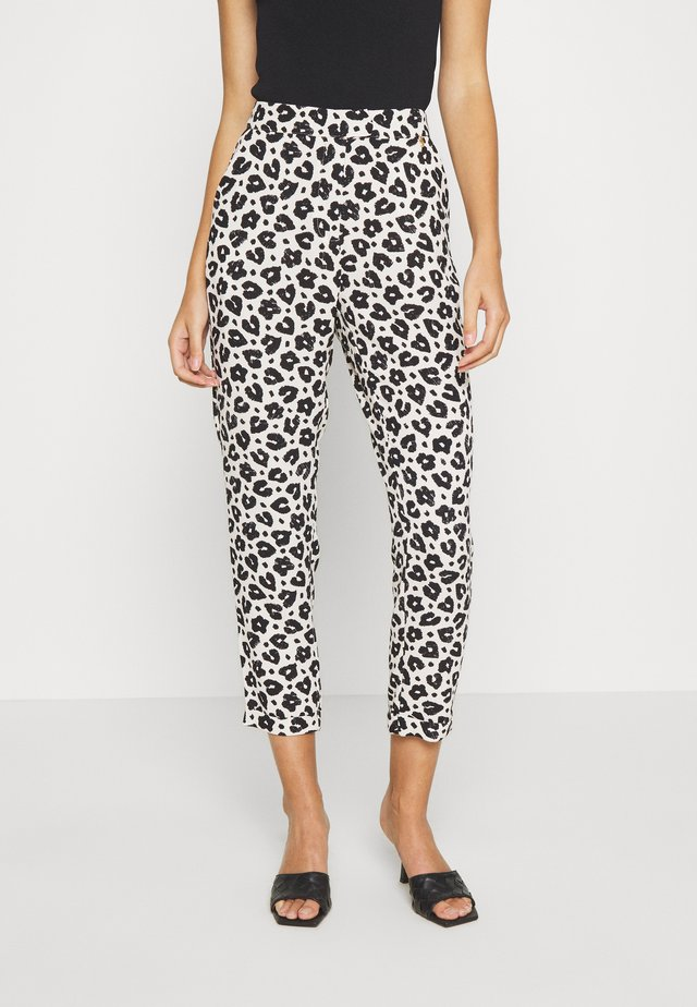 KATHY TROUSER - Trousers - cream white/black