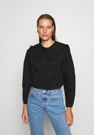 BLOUSE - Bluzka - black dark
