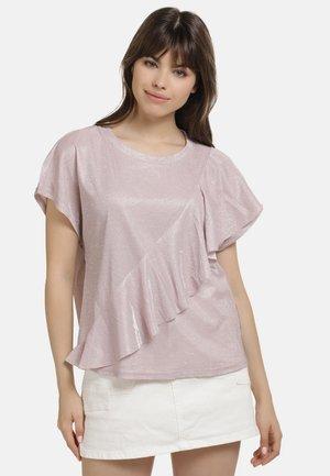 T-shirt print - rosa glitzer