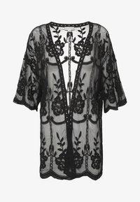 Honey Punch - SHORT KIMONO - Lehká bunda - black - 5