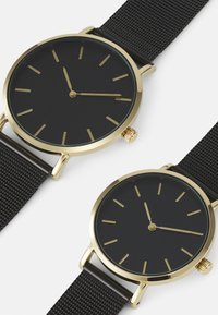 Pier One - COUPLE WATCHES GIFT SET - Klocka - black/gold-coloured - 3