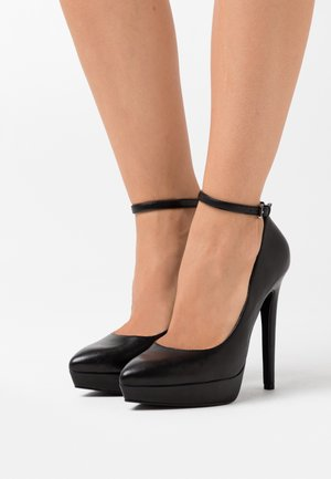 LEATHER - Zapatos altos - black