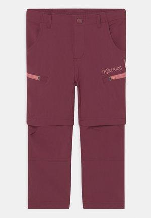 KJERAG ZIP OFF  2-IN-1 UNISEX - Pantalons outdoor - maroon red