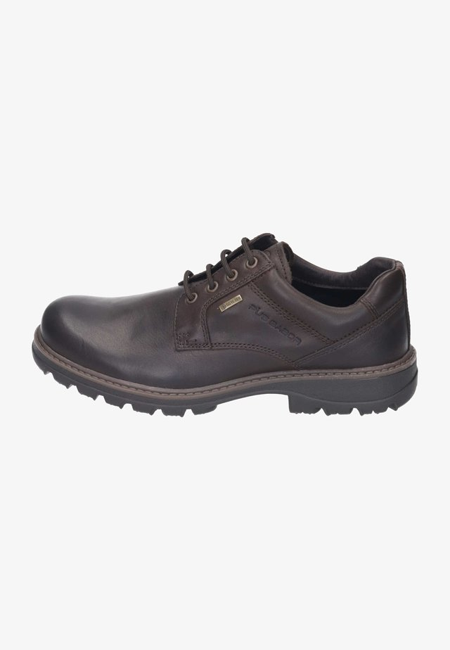 Casual lace-ups - mocca