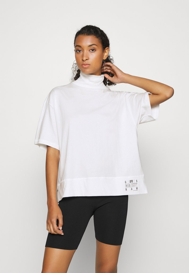 G-Star - CARRN LOOSE FUNNEL - Print T-shirt - milk