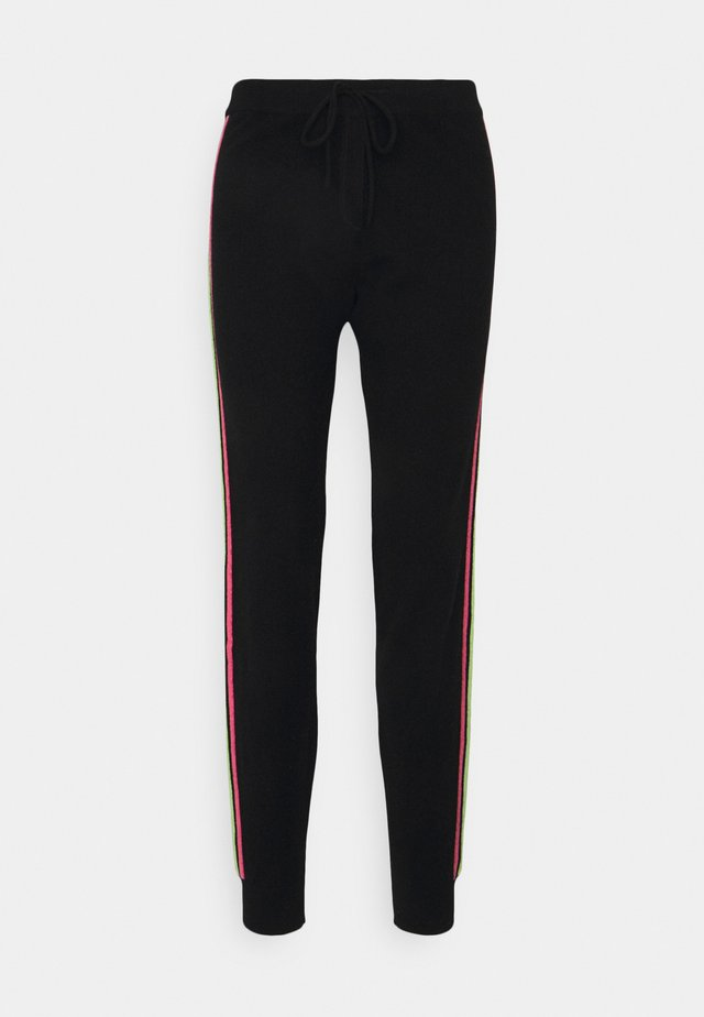 STRIPE LEG TRACK PANTS - Pantalon de survêtement - black/multi