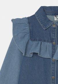 Cotton On - LUCILLE LONG SLEEVE FRILL DRESS - Denim dress - midnight - 2