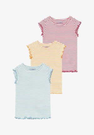 3 PACK - Basic T-shirt - red/light blue/yellow
