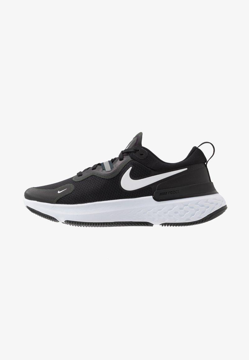 Nike Performance - REACT MILER - Neutral running shoes - black/white/dark grey/anthracite