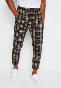 Denim Project - PANTS CROPPED - Trousers - black - 0