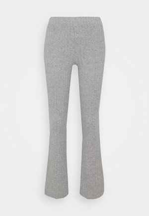 TARA TROUSERS - Bukse - grey melange