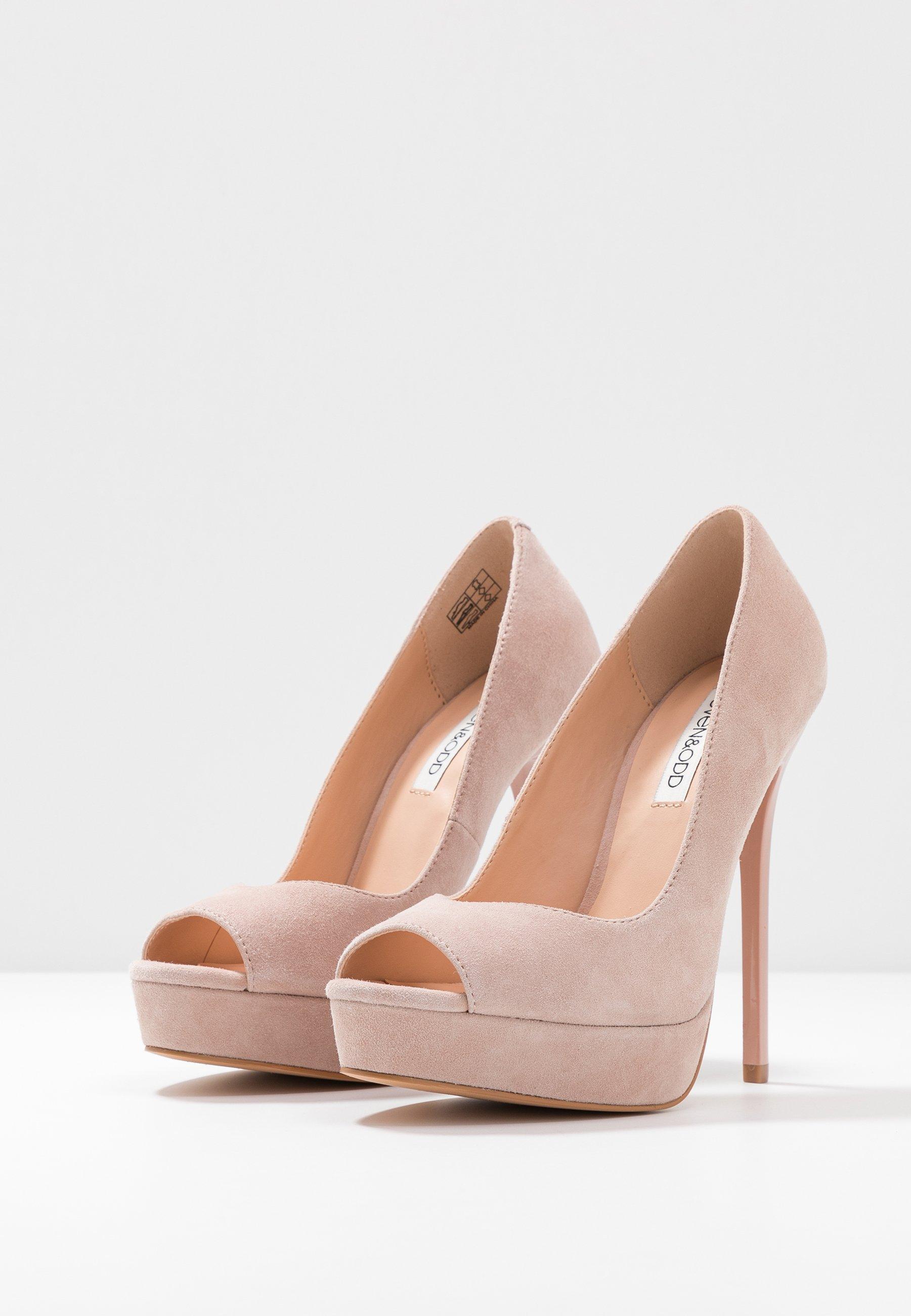 Even&odd Leather - Højhælede Peep-toes Nude