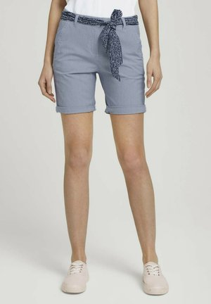 Shorts - navy thin stripe