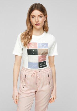 MIT ARTWORK - Print T-shirt - cream placed tile print
