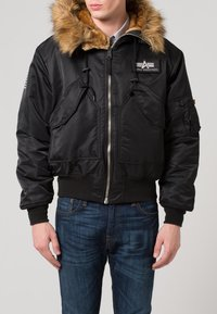 Alpha Industries - HOODED CUSTOM - Light jacket - black/reflective - 2