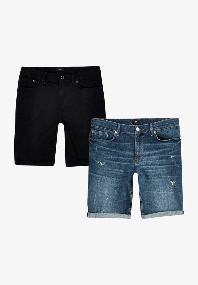 2 PACK - Shorts di jeans - blue