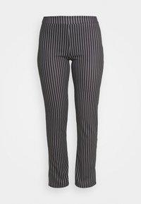 WAL G. - PIN STRIPE SKINNY TROUSERS - Trousers - black/white - 3