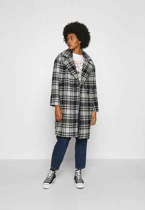 ONLDAJANA CHECK COAT - Mantel - black/white