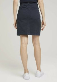 TOM TAILOR - MIT KORDELZUG - A-line skirt - sky captain blue - 3