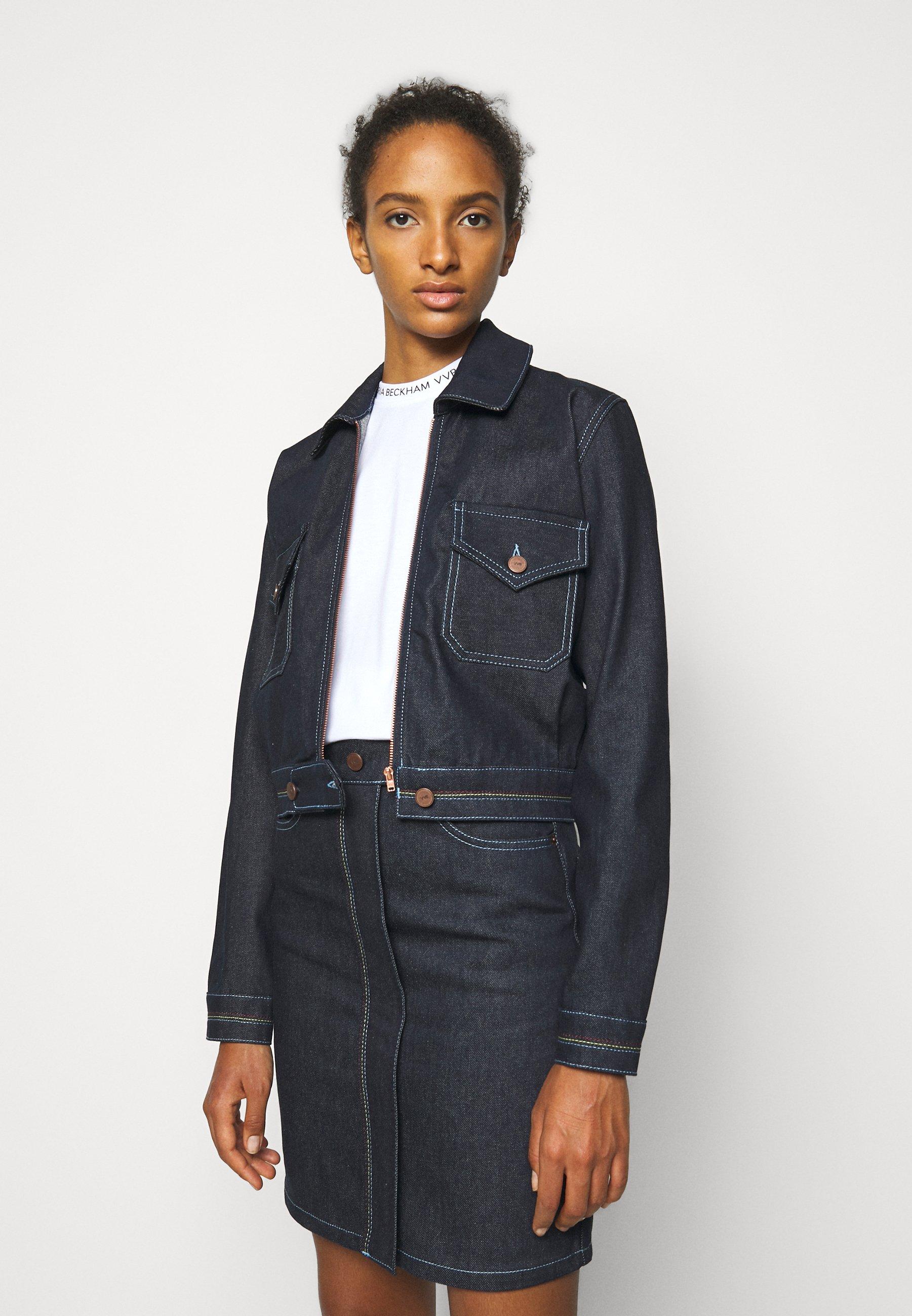 Femme RAINBOW STITCH HARRINGTON JACKET - Veste en jean