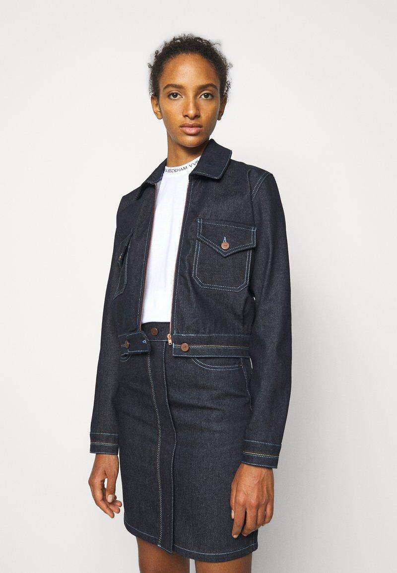 Victoria Victoria Beckham - RAINBOW STITCH HARRINGTON JACKET - Denim jacket - raw