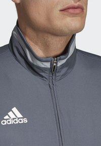 adidas Performance - TIRO 19 PRE-MATCH TRACKSUIT - Training jacket - grey/ white - 3