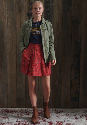 MANDY - A-line skirt - red ditsy