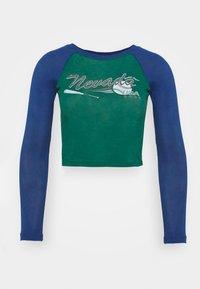 MICH SPORT LETTUCE - Long sleeved top - grn/blue