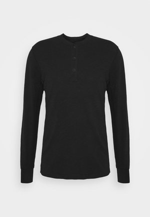 CLASSIC HENLEY - Long sleeved top - black
