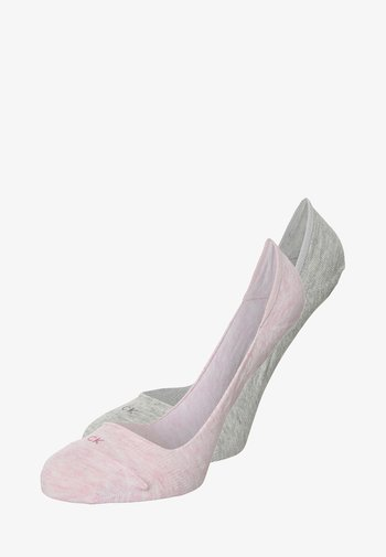 WOMEN LINER LOGO HAILEY 2 PACK - Trainer socks - faded pink heather/pale grey heather