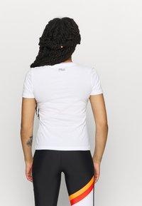 Fila - LADAN TEE - Print T-shirt - bright white - 2