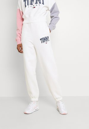 COLLEGIATE PANT - Tracksuit bottoms - ivory