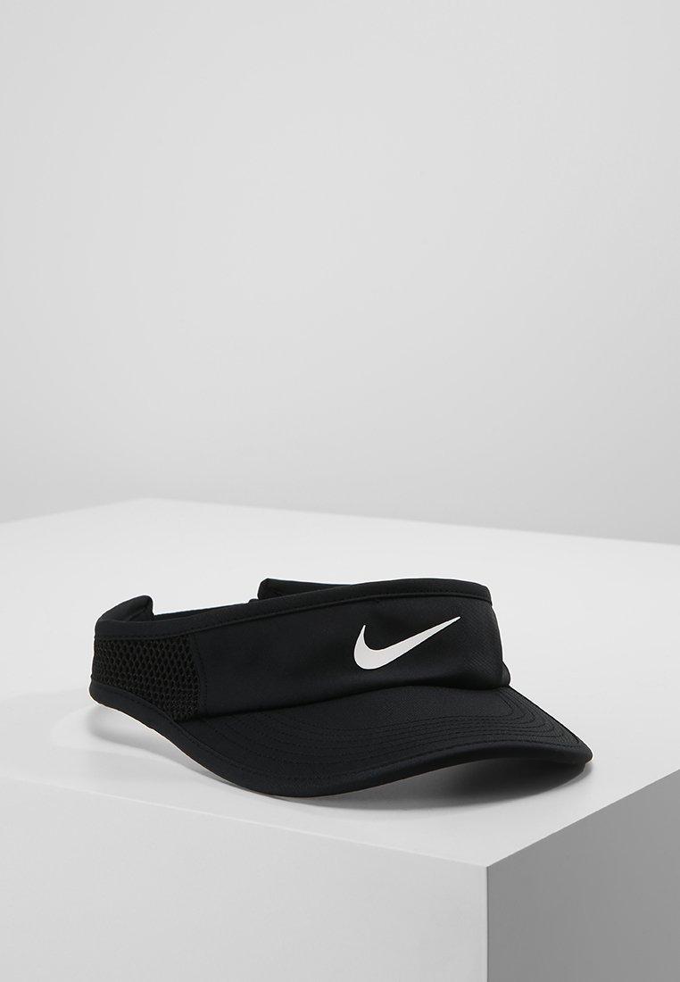 Nike Performance - WOMEN AEROBILL FEATHERLIGHT VISOR ADJUSTABLE - Cap - black/white