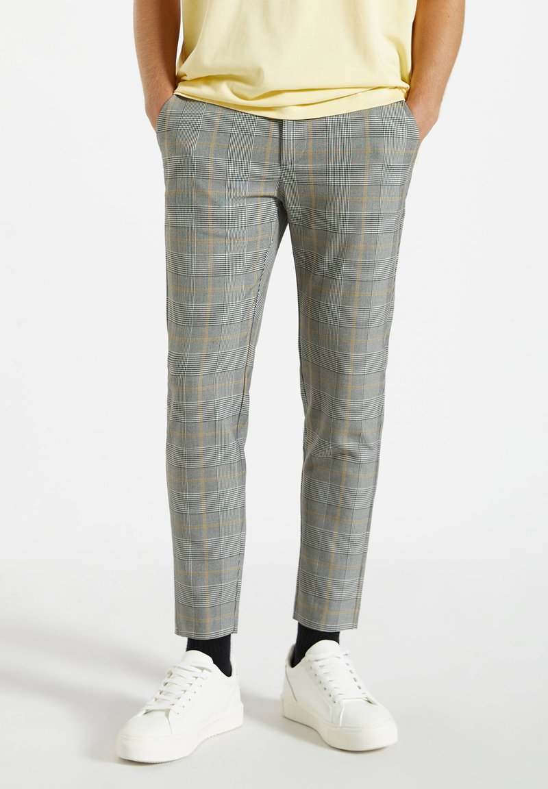 PULL&BEAR - Pantalon classique - mottled dark grey