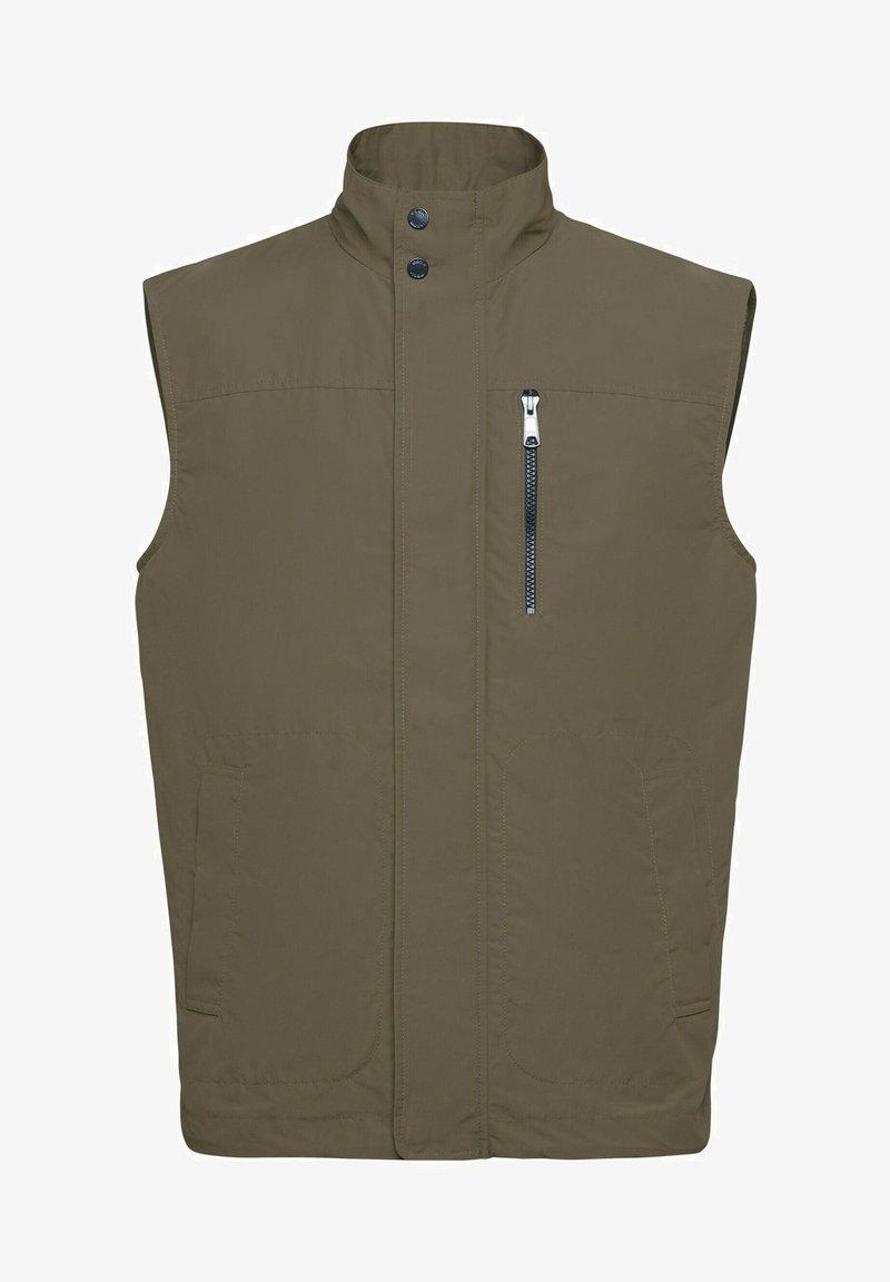 Geox - Waistcoat - bronze green