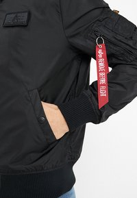 Alpha Industries - HOOD - Bomber Jacket - black - 4