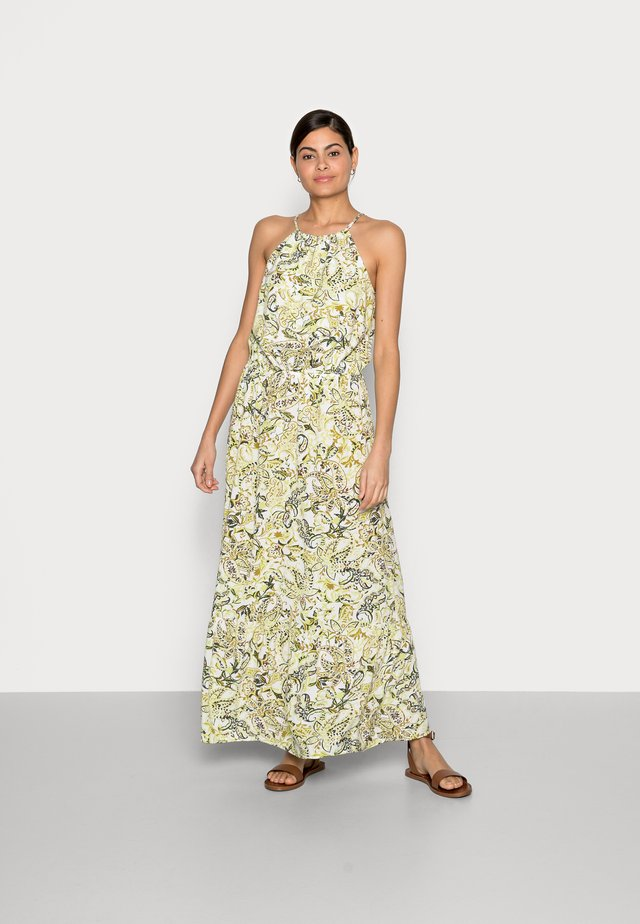 DRESS AMERICAN NECKLINE - Długa sukienka - green