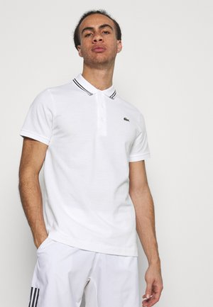 DETAILED COLLAR - Polo - white/black