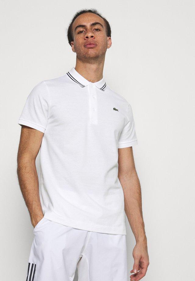 DETAILED COLLAR - Poloshirt - white/black