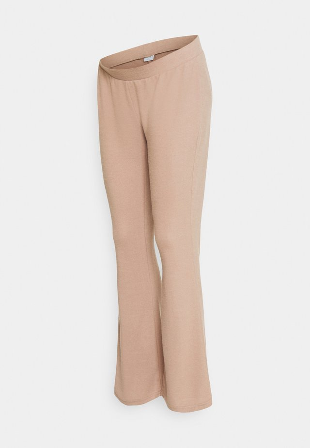 PCMPAM FLARED PANT - Pantaloni - warm taupe