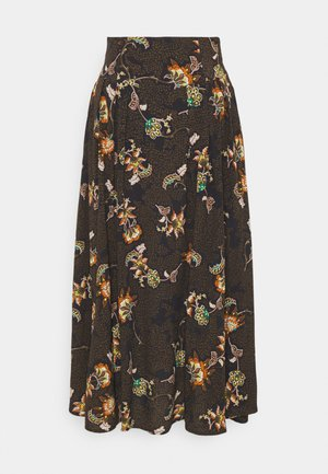 YASMARTA LONG SKIRT - Jupe trapèze - black
