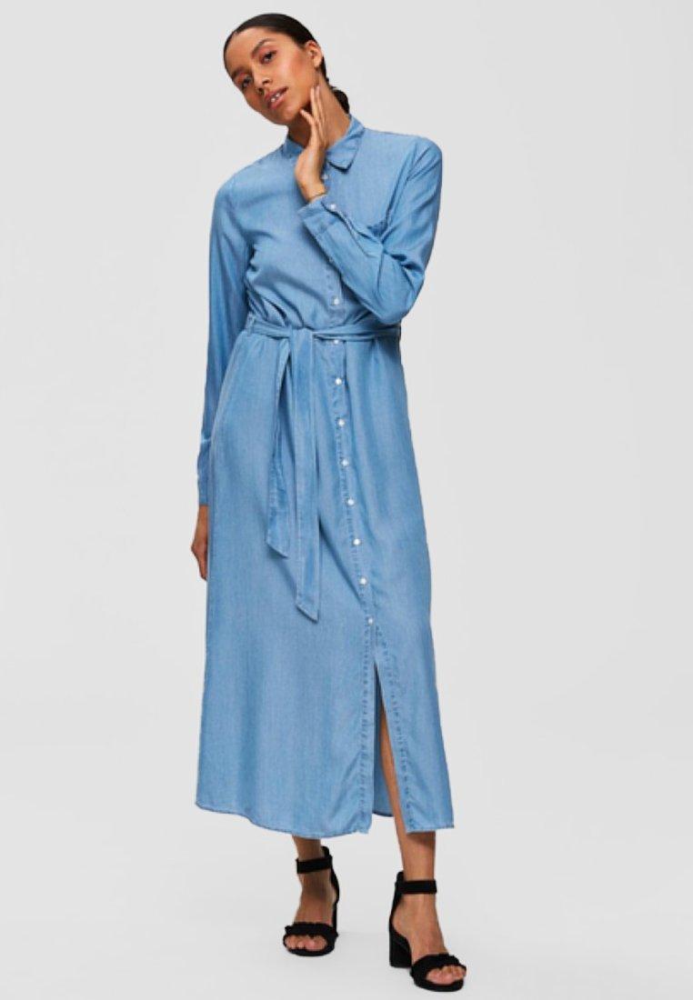 Selected Femme - Vestito lungo - light blue