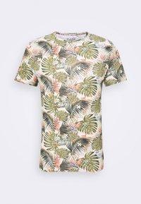 Print T-shirt - almond white