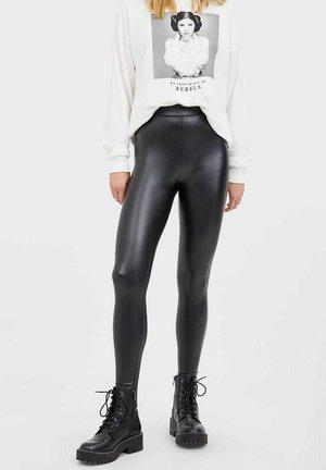 KUNSTLEDER - Legíny - black
