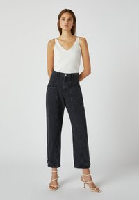 PULL&BEAR - Relaxed fit jeans - black - 1