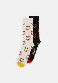 HAPPY RAINBOW PACK 2 PACK - Ponožky - black