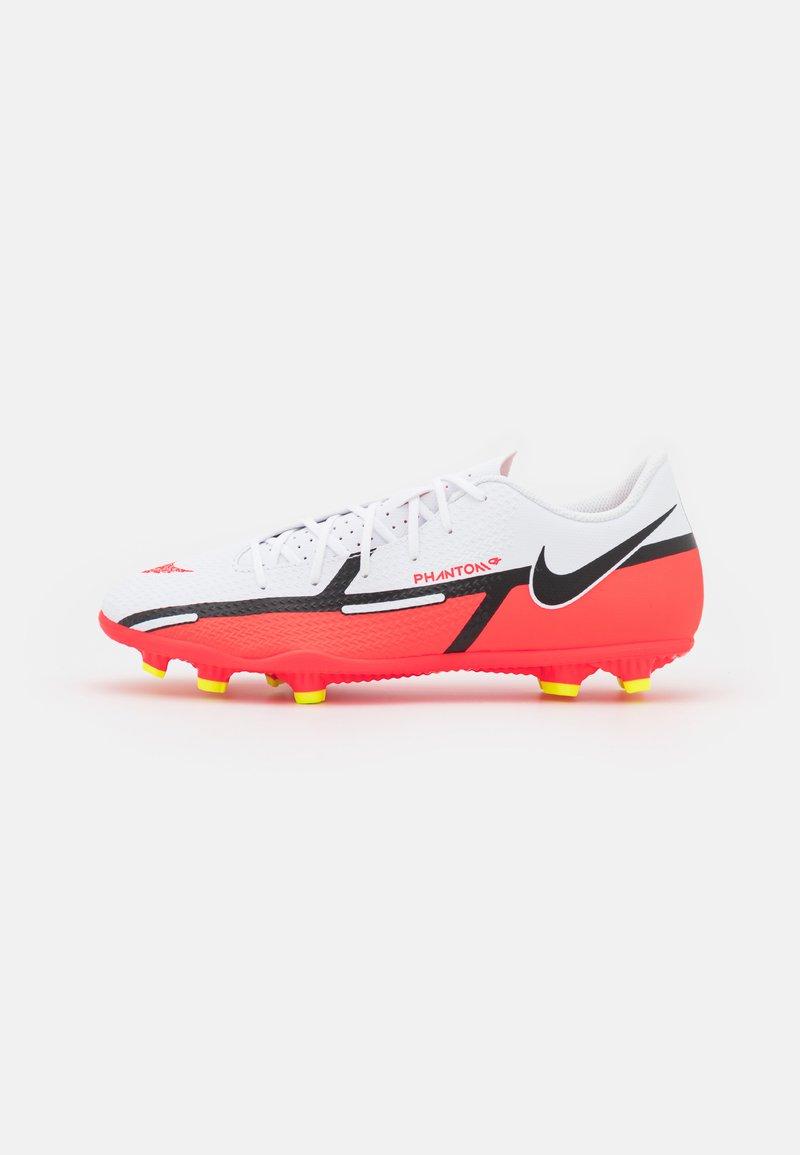Nike Performance - PHANTOM GT2 CLUB FG/MG - Moulded stud football boots - white/bright crimson/volt